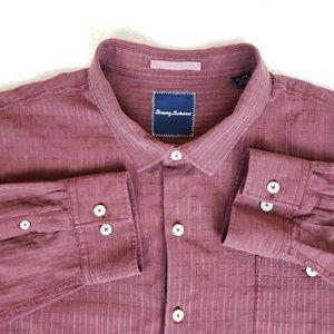 Tommy bahama button down shirt, sz 3XL silk/cotton